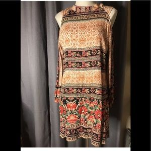 Angie boho festival cold shoulder dress Medium